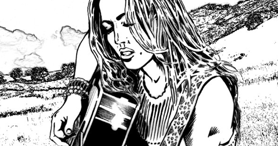 Sheryl Crow illustration